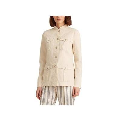 LAUREN Ralph Lauren Stretch-Cotton Canvas Jacket レディース コート アウター Raw Cotton
