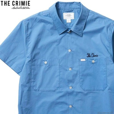 SALE 50%OFF!クライミー CRIMIE WORK STRETCH SHORT SLEEVE SHIRT (BLUE) [CR01-02L1-SS02] メンズ トップス シャツ 半袖 ブルー