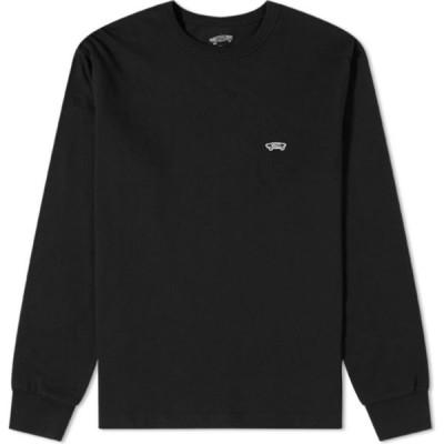 バンズ ボルト Vans Vault メンズ 長袖Tシャツ トップス long sleeve og basic tee Black