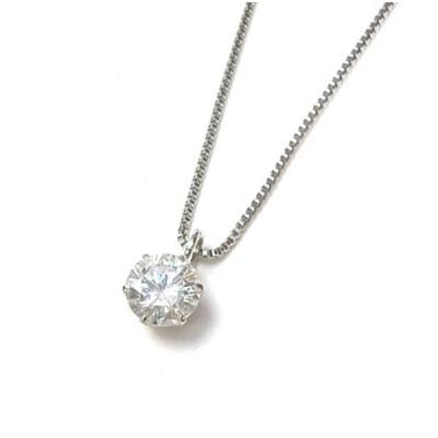 ダイヤモンドプチネックレス 0.342ct フリースライドタイプ /プラチナ/Pt900、Pt850 1.7g 【中古】(48609)
