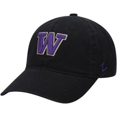 ユニセックス スポーツリーグ アメリカ大学スポーツ Washington Huskies Zephyr Beacon Adjustable Hat - Black - OSFA 帽子
