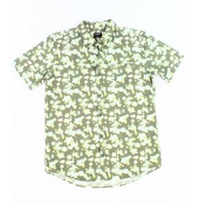 Hurley ハーレー ファッション アウター Hurley NEW Green Mens Size Medium M Abstract Floral Button Down Shirt