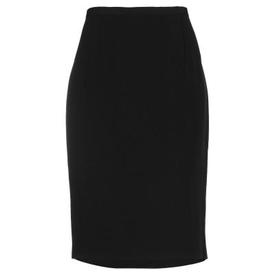 JM COUTURE ひざ丈スカート ブラック 50 アセテート 72% / ポリエステル 28% ひざ丈スカート