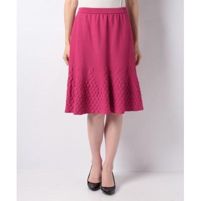 【ピッコラドンナ】 ストレッチジャガードスカート レディース ピンク 2号(9号) Piccola Donna
