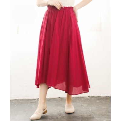 MK MICHEL KLEIN homme / 【洗える】イレヘムシフォンスカート WOMEN スカート > スカート