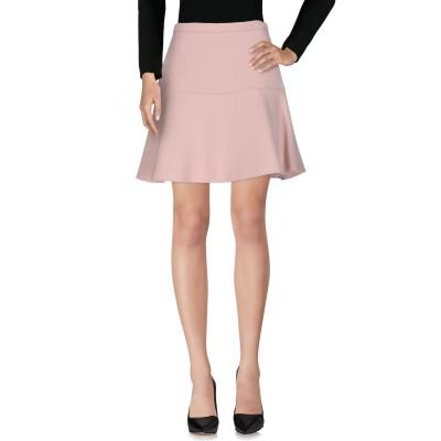 ミュウミュウ MIU MIU ひざ丈スカート ピンク 40 50% バージンウール 50% シルク ひざ丈スカート