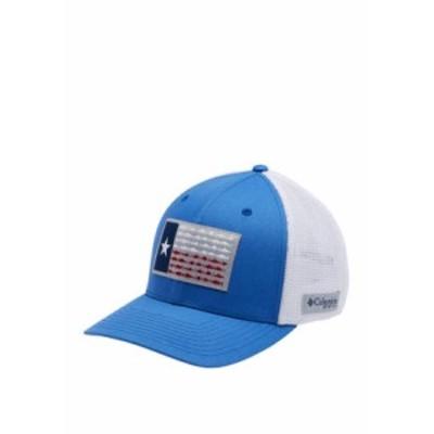 コロンビア メンズ 帽子 アクセサリー PFG Mesh? Fish Flag Ball Cap Vivid Blue, White, T
