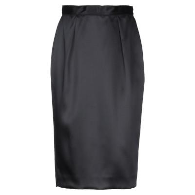 D&G 7分丈スカート ブラック 46 アセテート 100% 7分丈スカート