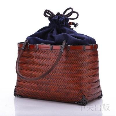 かごバッグ 手作りバッグ 高級 和風 竹編 収納 茶箱 収納ボックス 漆器 茶器 茶道具 工芸品  ハンドバッグ9b