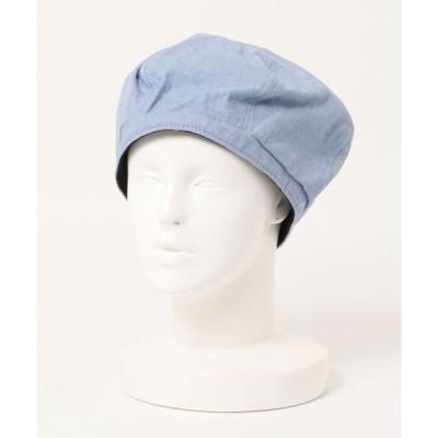 帽子 シャンブレービッグベレー