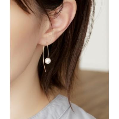 CERCA / 【Meach.】14kgfカラーコットンパールシンプルピアス WOMEN アクセサリー > ピアス(両耳用)