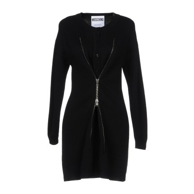 モスキーノ MOSCHINO ミニワンピース&ドレス ブラック 44 カシミヤ 100% ミニワンピース&ドレス