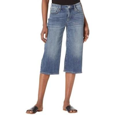 エヌワイディージェイ レディース デニムパンツ ボトムス Wide Leg Denim Pedal Pusher Jeans in Seline