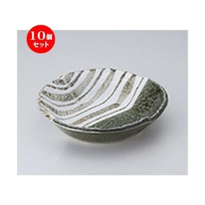 10個セット 多用鉢 織部ストライプ6.5丸鉢 [ 19 x 4.5cm ] 【 料亭 旅館 和食器 飲食店 業務用 】