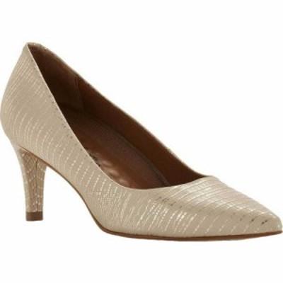 ウォーキング クレードル Walking Cradles レディース パンプス シューズ・靴 Sophia Pump Beige/Gold Lizard Print PU