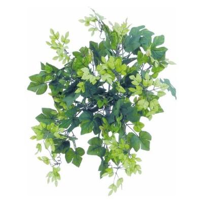 人工観葉植物 グレープアイビー 47cm ブッシュ 観葉植物 造花 フェイクグリーン 光触媒 CT触媒 インテリア BB454