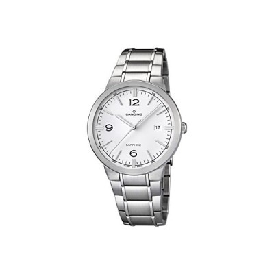 Candino Men's Quartz Watch with White Dial Analogue Display and Silver Stainless Steel Bracelet C4510/1 並行輸入品