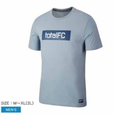 夏新作 【メール便可】ナイキ 半袖Tシャツ メンズ FC シーズナル グラフィック Tシャツ 青 NIKE CD0168 ウエア トップス ブランド クルー