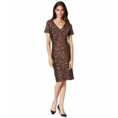 ミリー ワンピース トップス レディース Animal Print Fitted Dress Natural Combo