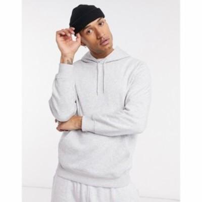 ウィークデイ Weekday メンズ パーカー トップス standard hoodie in grey marl グレー