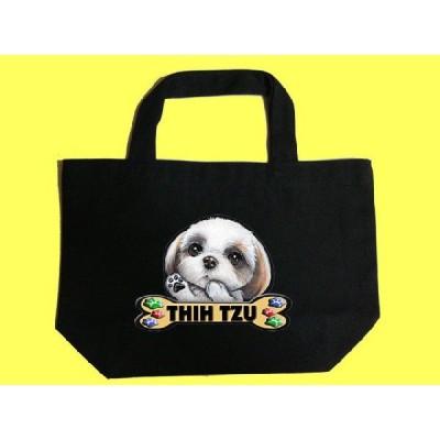 犬 トートバッグ シーズー 36 カラフル キャンバス お散歩バッグ/可愛い バック オーダーメイド オリジナル グッズ