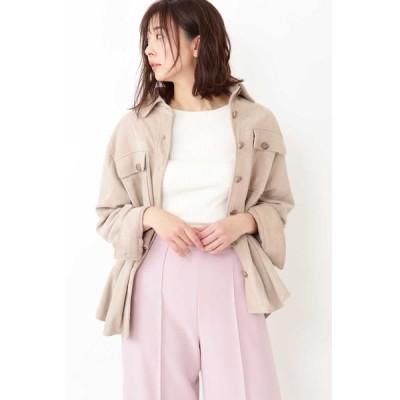 JILLSTUART/ジルスチュアート ◆モリースエードシャツジャケット BEIGE FR