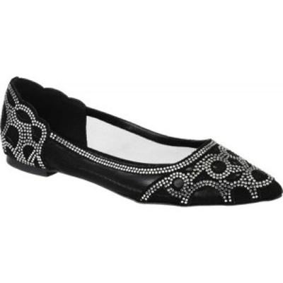 ジュルネ コレクション Journee Collection レディース スリッポン・フラット シューズ・靴 Batavia Pointed Toe Flat Black Synthetic/M