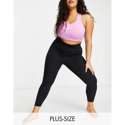 ナイキ レディース カジュアルパンツ ボトムス Nike Yoga Plus cropped leggings in black Black