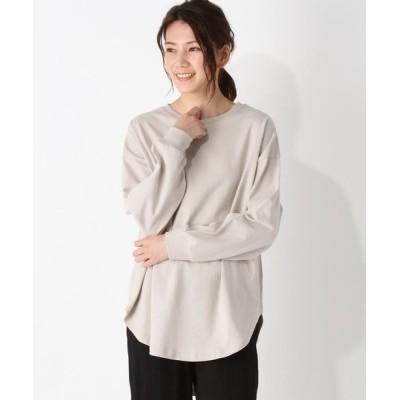 grove/グローブ ラウンドヘムロング長袖Tシャツ ライトグレー(011) 02(M)
