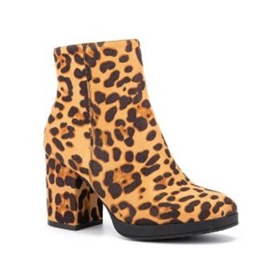 オリビアミラー レディース ブーツ&レインブーツ シューズ 'Fly' Booties Leopard