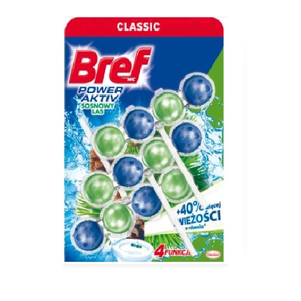 德國Bref強力馬桶芳香清潔球50gx3入組松木