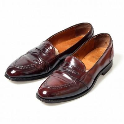 オールデン コードバン ALDEN 684 フルストラップ ローファー US10.5B バーガンディコードバン アメリカ製 NortonDitto別注 メンズ 靴 革靴 紳士靴 【中古】