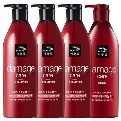 [hair care ck201]ミジャンセンダメージケアケラチンシャンプー680ml x 3p +リンス680ml短納期を保証From KOREA