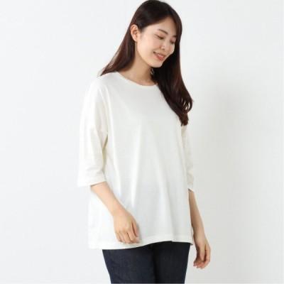オーガニックコットン100%◎オーバーサイズTシャツ アイボリー M〜L