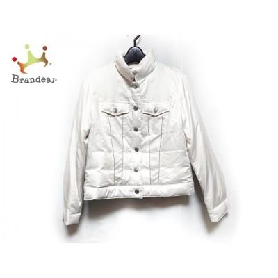 ブランベール blancvert ダウンジャケット サイズ38 M レディース - 白 長袖/秋/冬  値下げ 20210405