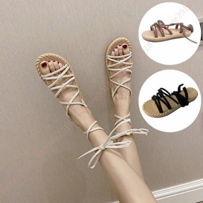サンダル レディース 厚底 ローヒール ジュートサンダル 軽量 軽い 通気性 カジュアル 歩きやすい 靴 黒 白 ジュート ストラップ 大人 上品 きれいめ
