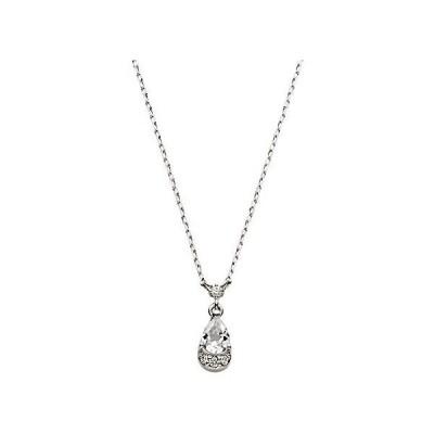 [VAヴァンドーム青山] ダイヤモンド 0.01ct ホワイトゴールド K10 ネックレス GJBN042240TH (シルバー)