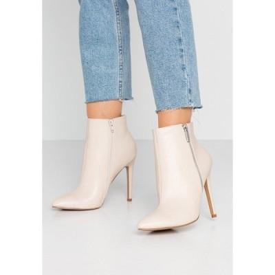 エブンアンドオッド ブーツ&レインブーツ レディース シューズ High heeled ankle boots - nude