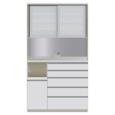 家具 収納 キッチン収納 食器棚 レンジ台 ハイカウンターダイニング ガラス扉タイプ ハイカウンターボード W120D45H214/パモウナ VQL-S1200R VQR-S1200R 549271