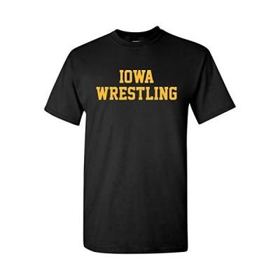 Iowa Hawkeyes Block Iowa Wrestling T-Shirt - 3X-Large - Black