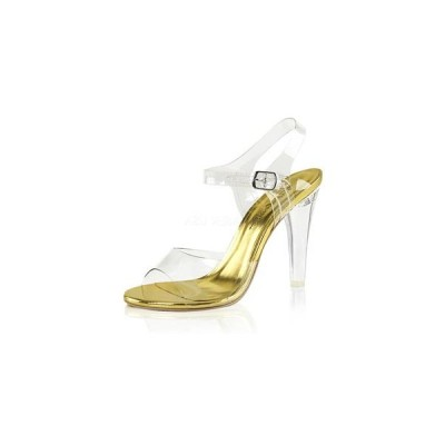 """Fabulicious プリーザー pleaser CLEARLY-408 4 1/2"""" Heel cle408-c-g  クリアー レディース お取り寄せ商品"""