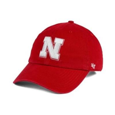47ブランド メンズ 帽子 アクセサリー Nebraska Cornhuskers CLEAN UP Cap Red