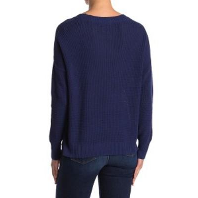スウィートロメオ レディース ニット&セーター アウター Seed Stitch Pullover Sweater NAVY
