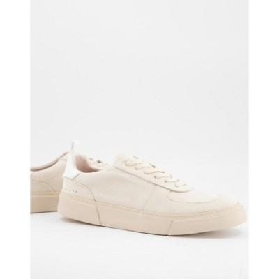 エイソス メンズ スニーカー シューズ ASOS Unrvlled Spply sneakers in white with contrast back tab