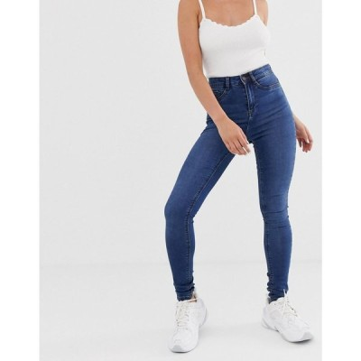 ノイズィーメイ Noisy May レディース ジーンズ・デニム ボトムス・パンツ high waisted skinny callie jeans in mid blue wash Med blue denim
