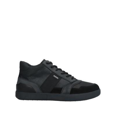 ジェオックス GEOX スニーカー&テニスシューズ(ハイカット) ブラック 45 革 紡績繊維 スニーカー&テニスシューズ(ハイカット)