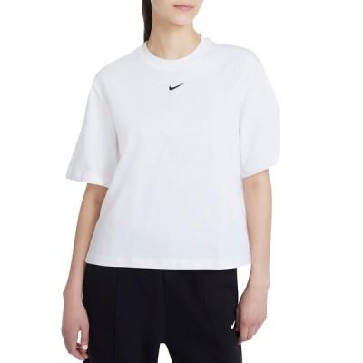 ナイキ シャツ トップス レディース Nike Women's Sportswear Essential Boxy T-Shirt White