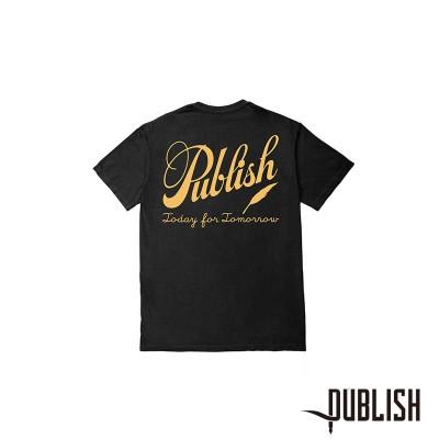 【PUBLISH BRAND/パブリッシュブランド】CALIGRAPHY Tシャツ / BLACK(L)