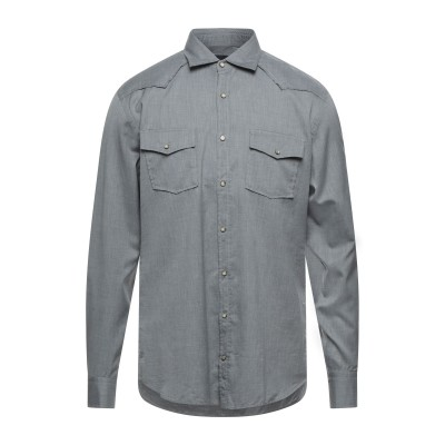 ラルディーニ LARDINI シャツ 鉛色 M コットン 100% シャツ