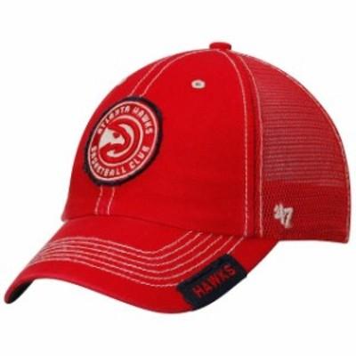 47 フォーティーセブン スポーツ用品  47 Atlanta Hawks Red Turner Clean Up Snapback Adjustable Hat
